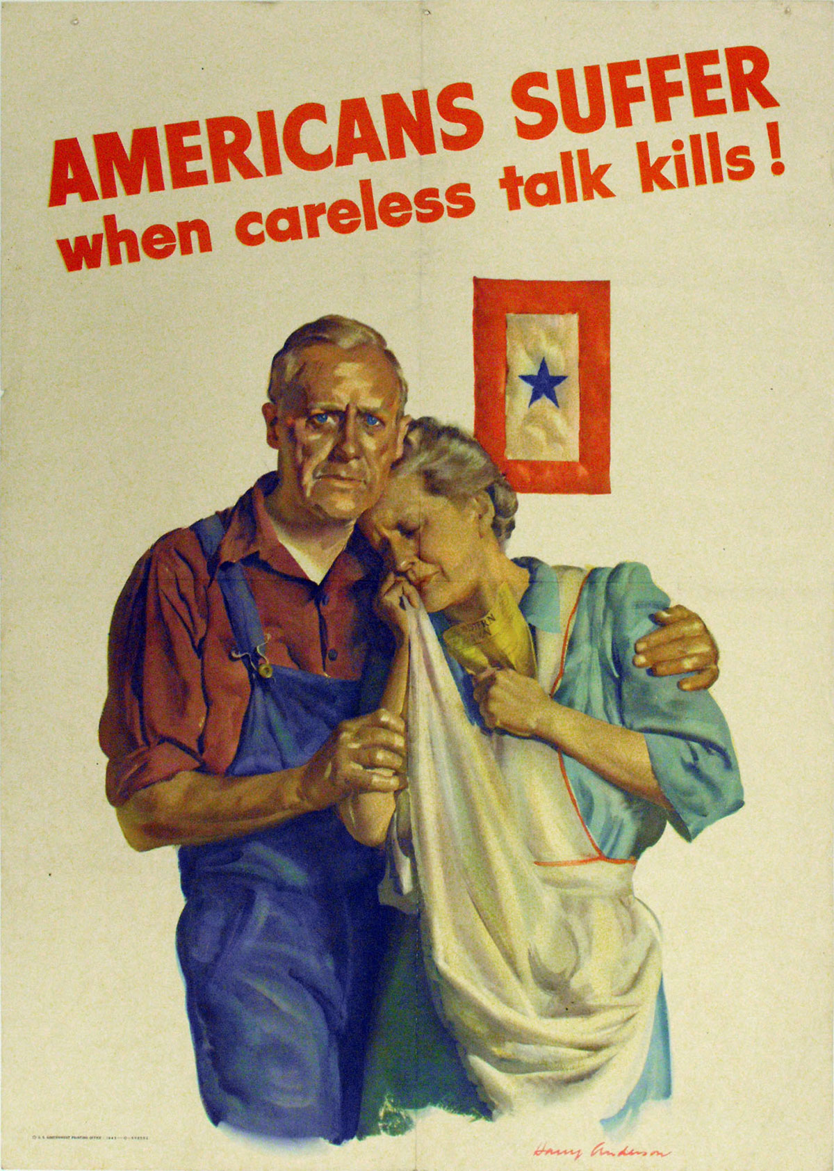 Americans Suffer When Careless Talk Kills Poster