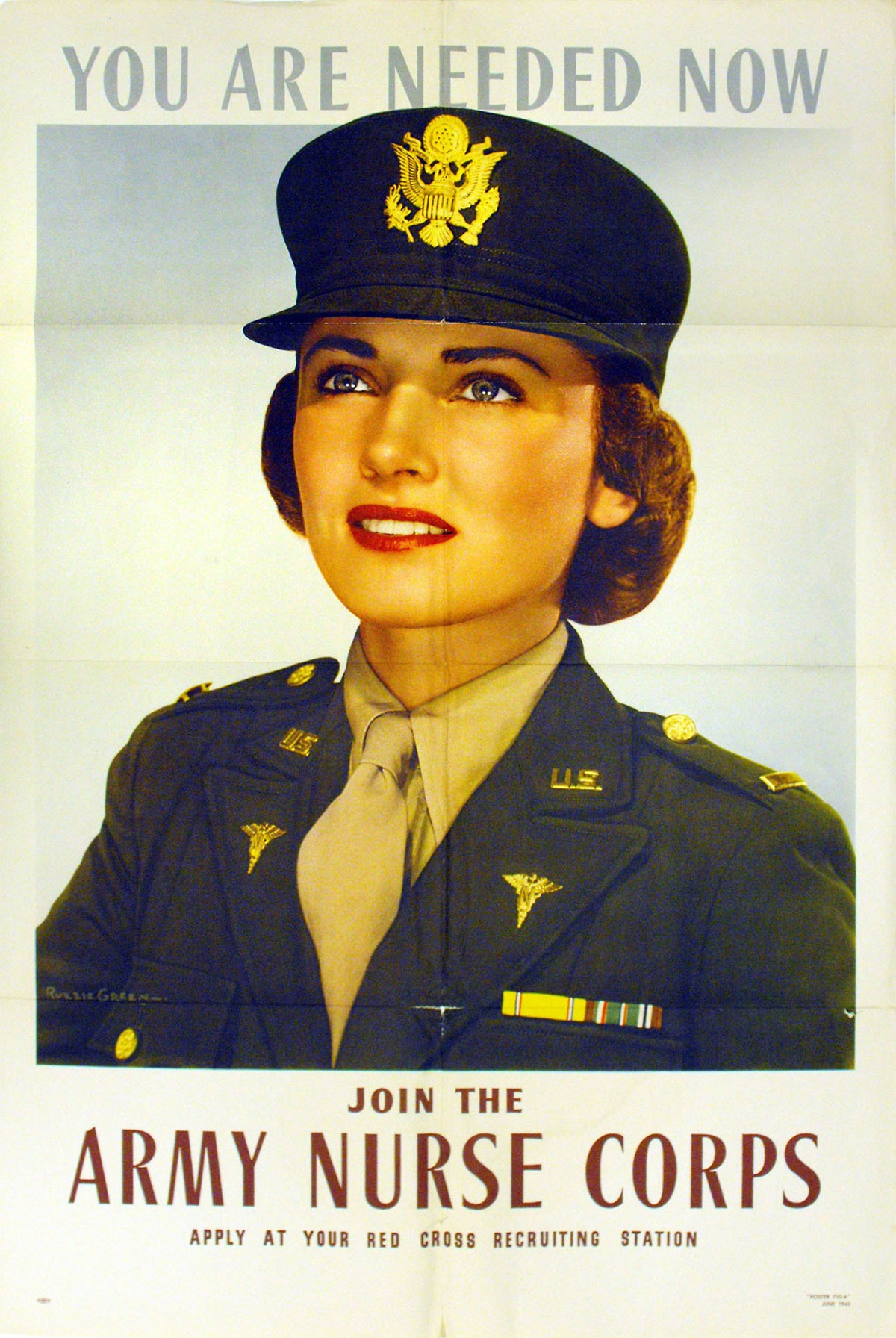 You are Needed Now, Join the Army Nurse Corps Poster