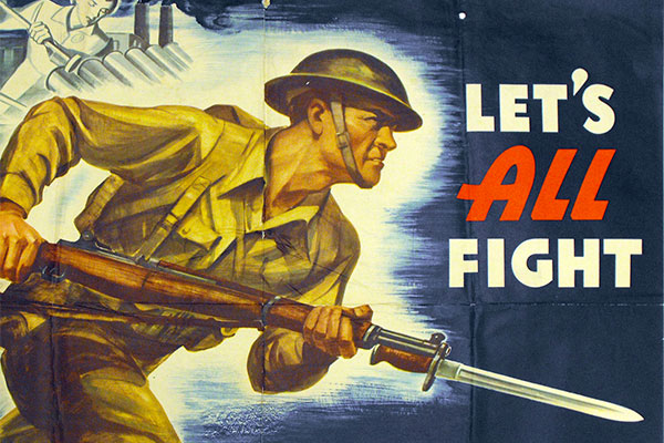 Let's All Fight WWII Poster