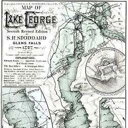 Print: Map of Lake George by S. R. Stoddard