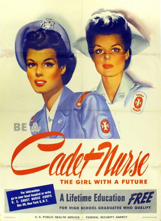 two women in nurses' uniforms
