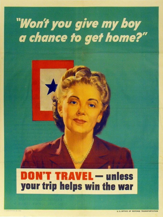 woman infront of a BlueStar service flag