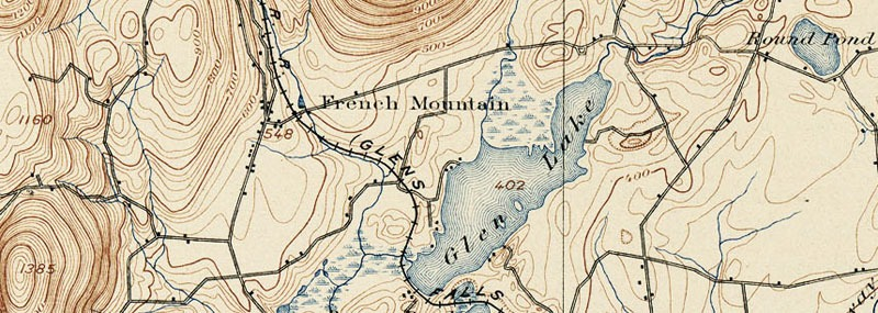 topo map of French Mountain