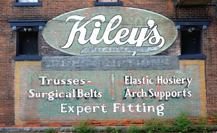 ghost sign of Kiley's
