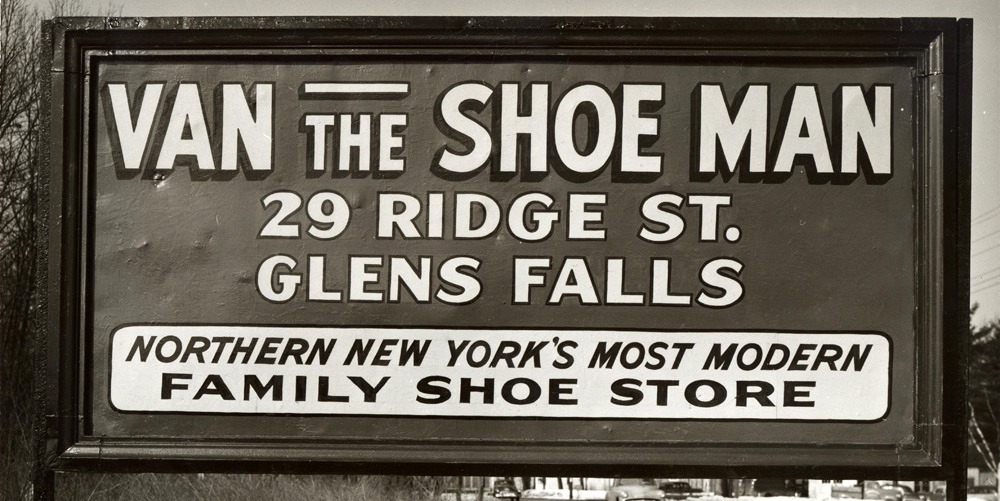 Road sign for Van the Shoe Man