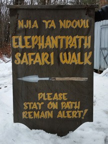 Elephant Path sign