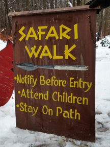 Safari Walk sign