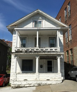 2 story house painted white