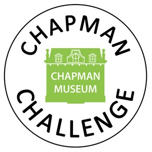 Chapman Challenge in a circle with green Chapman Logo in center