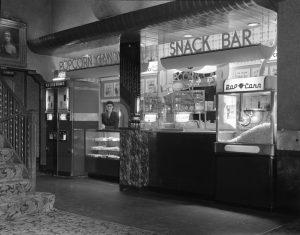 interior movie theater snackbar